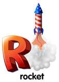 Uma letra R para o foguete Fotografia de Stock Royalty Free
