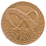 Uma libra britânica Fotografia de Stock