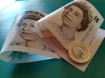 Uma libra britânica, novo tipo 2017 Fotos de Stock