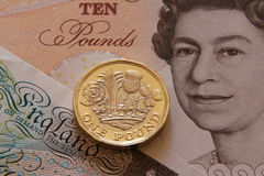 Uma libra britânica, novo tipo 2017 Fotos de Stock Royalty Free