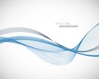 Uma linha abstrata elegante molde futurista da onda do vetor do fundo do estilo ilustração royalty free