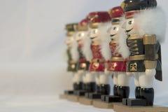 Uma linha de Nutcrackers Imagens de Stock Royalty Free