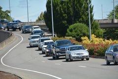 Uma linha de tráfego suportado em Salem, Oregon Imagem de Stock Royalty Free