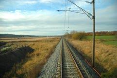Uma linha reta Foto de Stock