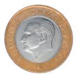 Uma lira turca Imagem de Stock