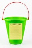 Uma lista brincalhão da cubeta. Fotos de Stock