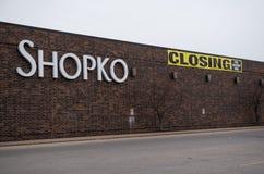 Uma loja de Shopko no La Crosse foto de stock royalty free