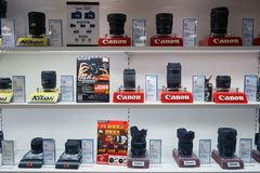 Uma loja eletrônica fotografia de stock royalty free