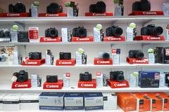 Uma loja eletrônica foto de stock
