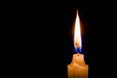 Uma luz de vela Imagem de Stock