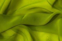 Uma luz - seda verde Fotografia de Stock Royalty Free
