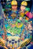 Uma máquina de pinball retro velha Fotografia de Stock