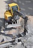 Uma máquina escavadora Foto de Stock