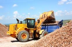 Uma máquina escavadora Fotografia de Stock