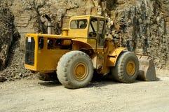 Uma máquina escavadora - escavador Imagens de Stock Royalty Free