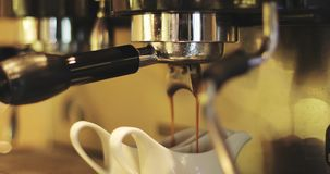 Uma máquina nova do café vídeos de arquivo