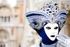 Uma máscara do carnaval de Veneza Imagem de Stock