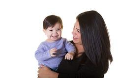 Uma mãe e sua filha do bebê Imagem de Stock Royalty Free