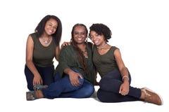 Uma mãe e suas 2 filhas imagem de stock royalty free