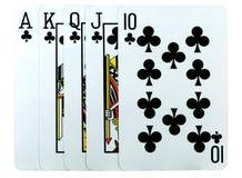 Uma mão do póquer Imagens de Stock
