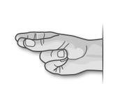 Uma mão passa rapidamente na batida à música Fotografia de Stock Royalty Free