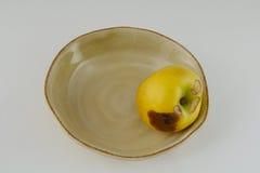 Uma maçã podre má Imagem de Stock Royalty Free