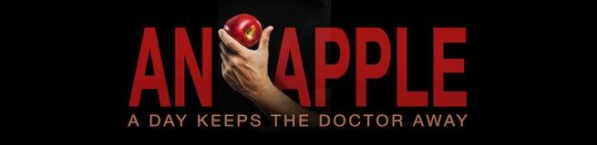 Uma maçã um o dia… Imagens de Stock