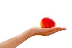 Uma maçã um o dia… Foto de Stock Royalty Free