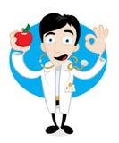 Uma maçã um o dia mantem o doutor ausente Imagens de Stock