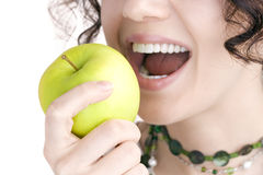 ?uma maçã um o dia mantem o doutor ausente? Fotos de Stock