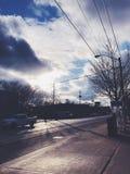 Uma manhã do inverno em Toronto fotografia de stock
