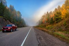 Uma manhã do outono no Algonquin imagens de stock royalty free