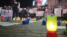 Uma manifestação no nome da paz imagens de stock