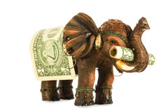 Uma mascote para executivos Fotos de Stock Royalty Free