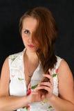 Uma meia face de uma menina Fotografia de Stock Royalty Free