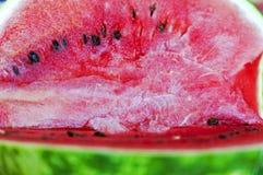 Uma melancia cortada Imagens de Stock Royalty Free