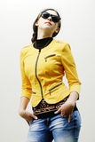 Uma menina à moda nova Foto de Stock