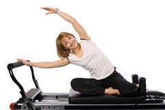 Uma menina agradável dos pilates Imagens de Stock Royalty Free