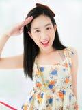 Uma menina asiática bonita nova Imagem de Stock