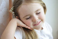 Uma menina bonita Imagem de Stock Royalty Free