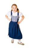 Uma menina bonita em um azul Fotografia de Stock Royalty Free