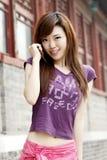 Uma menina chinesa Fotografia de Stock Royalty Free