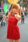 Uma menina chinesa comemora o ano novo chinês Imagem de Stock