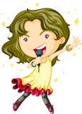 Uma menina de canto Imagens de Stock Royalty Free