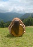 Uma menina em um tambor 4 Imagem de Stock Royalty Free