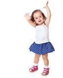 Uma menina está levantando Imagem de Stock