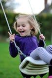 Uma menina feliz Fotos de Stock