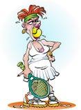 Uma menina irritada do tênis Imagem de Stock Royalty Free