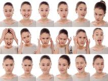 Uma menina - muitas emoções Fotografia de Stock