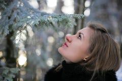 Uma menina no inverno Imagem de Stock Royalty Free